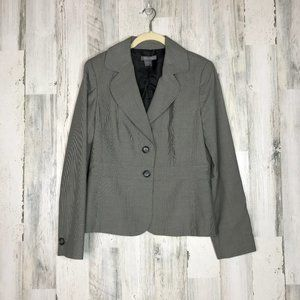Ann Taylor grey houndstooth suit jacket Size 6